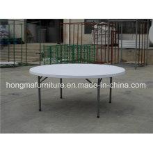 6FT Наружная складная мебель Складной круглый стол