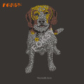 Lovely Dogs Rhinestone Heat Transfer Design för plagg