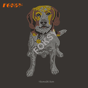 Lovely Dogs Rhinestone Heat Transfer Design for Garment
