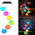 Solar Outdoor Led Hanging Ball Wind Chime Light