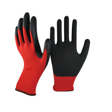 NMSAFETY 13 gant polyester doublé enduit gant de travail de jardin en latex
