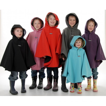 Waterproof PU Rain Poncho Kids