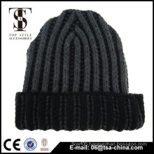 Custom Patch Cap Long Acrylic Beanie Knit Winter Hat