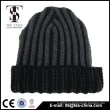 Custom Patch Cap Long Acrílico Beanie Knit Inverno Hat