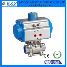 Accionamiento de válvula de bola de actuador de 2 vías accionado por agua de aire, DN25