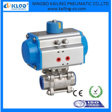 Válvula de esfera de atuador de 2 vias accionada para água de ar, DN25
