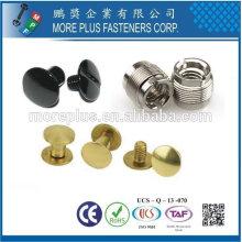 Taiwan Stahl Edelstahl Kupfer Standard oder Nicht-Standard-Double Cap Niet Schraube Sets Männliche weibliche Schrauben Chicago Schrauben