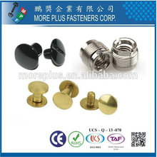 Taiwan Steel Stainless Steel Copper Standard or Non-Standard Double Cap Rivet Screw Sets Male Female Screws Chicago Screws