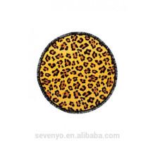 Serviettes de plage rondes imprimées léopard sexy 100% polyester pour adultes