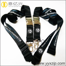 customized polyester beautiful lanyard with silkscreen logo