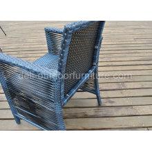 Aluminium Frame mobilier Outdoor Lounge chaise en osier