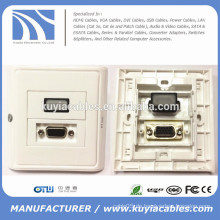 86 * 86mm HDMI und VGA Wandplatte Platte Faceplate