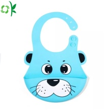 Cartoon Washable Silicone Baby Bibs for Dinner
