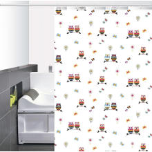 Cortina de ducha impresa baño impermeable objetivo
