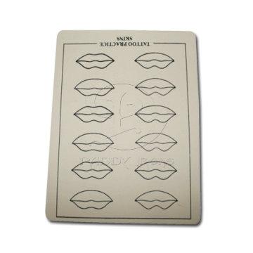 12 губ перманентный макияж губ практике кожи 15 * 20 см для макияжа татуировки практике кожи