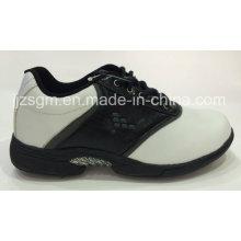 Chaussures de golf en dentelle blanche / noire