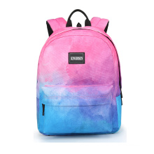 Sublimation Gradual change backpack high school casual Gradient school bag girls backpack for travelling