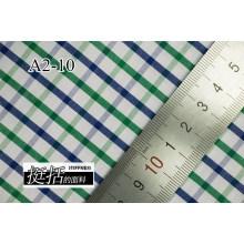 Verde/Marina de guerra comprueba Chequer hilado teñido de tela de camiseta
