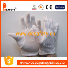 Ddsafety Anti-Static Mini Dots Glove Gloves with Nylon Stitch Hem Dch119