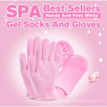 Gel hidratante meias, meias de SPA Gel Gel luvas