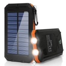 Solar Mobile Compact Camp Shockproof Power Bank