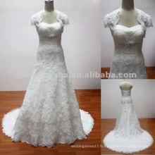 NW-306 Nouvelle robe de mariée design en dentelle