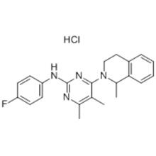 Name: 2-Pyrimidinamine,4-(3,4-dihydro-1-methyl-2(1H)-isoquinolinyl)-N-(4-fluorophenyl)-5,6-dimethyl-,hydrochloride (1:1) CAS 178307-42-1