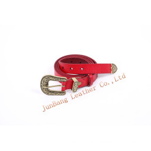 Newest Leather Belt with Metal Loop and End for Jeans