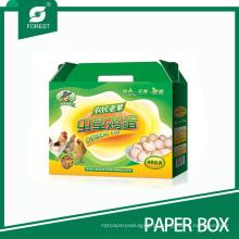 Caixa de empacotamento ondulado por atacado Eco-Amigável para o alimento biológico