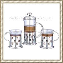 Jeux de café presse inox