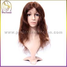 2014 producto más caliente del año pelo humano verdadero guadalupe peluca llena del cordón