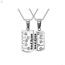 latest chunky wholesale silver men dog tag pendant jewelry
