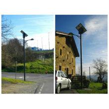 2014 alta calidad energía solar energía poste ligero de calle, luz de calle de energía solar