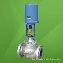 Válvula de regulación de presión de tipo globo accionado eléctricamente (ZDLP)