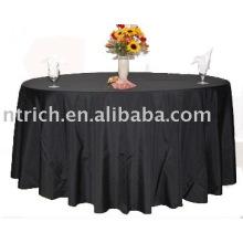 Tampa de tabela do Hotel, 100% poliéster toalha de mesa, toalhas de mesa de banquete