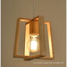 Simple Wooden Frame Chandelier Pendant Lamp For Home Decor
