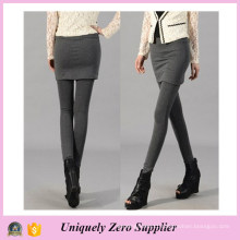 Fast Delivery Fashion Women Black Cotton Skirt Leggings (SR8202)