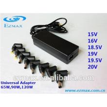 Универсальный адаптер питания AC / DC постоянного тока мощностью 65 Вт