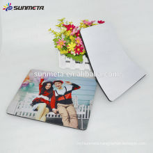 blank sublimation rubber mouse pad for custom printing