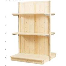 Estante de exhibición de madera