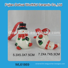2016 new ceramic snowman hanging ornaments