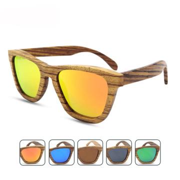 FQ marca exportação estilo quente polarizada moda de madeira China óculos de sol