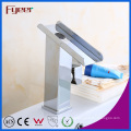 Fyeer Bathrooom Uncovered Waterfall Single Handle Chrome Basin Faucet Mixer Tap