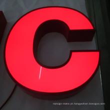 Signage arquitectónico com exposição de diodo emissor de luz exterior Lighting do diodo emissor de luz como Signage