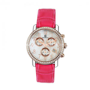 Stainless steel girl chronograph watch