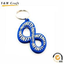 Corrente chave feita sob encomenda do PVC do projeto macio do número para a venda Ym1119