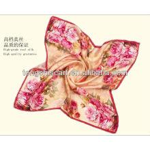 Мода цифровой печать шелк квадратный шарф для леди
