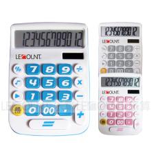 12-значный двойной калькулятор рабочего стола с большим ЖК-дисплеем и клавишами (LC201-12D)