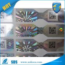 Prix d'usine ZOLO et autocollant d'hologramme à chaud, autocollants d'étiquettes holographiques