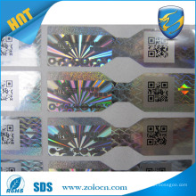 ZO LO factory hot selling scratch off sticker, hologram sticker